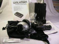 Superb Sony Walkman Prof. Stereo Cassette Recorder WM-D6 W/Extra Access. Box NR #Sony