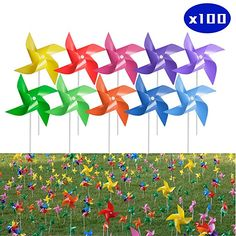 Amazon.com : Tsocent 10 Mixed Colors Pinwheels (Pack of 100) - Outdoor Decorational Pinwheels Wind Spinners for Yard and Garden - 100 Pcs Party Favors Pinwheels Windmill Educational Gifts for Kids : Gateway