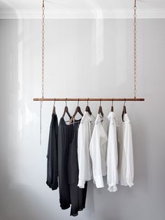 my scandinavian home: A lovely clutter-free, light and airy Swedish pad Hanging Clothes Racks, Hanging Closet, Hanging Racks, Pipe Clothes Rack, Clothes Hanger, Open Wardrobe, Wardrobe Sets, Boutique Interior, Store Interiors