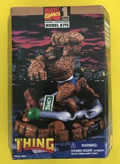 NEW 1996 THE THING Toy Biz Snap Together Model Kit 8in Marvel Fantastic Four #eBayDanna