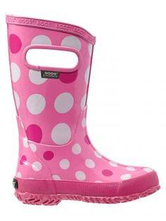 Bogs Muck Boots Girls Kids Classic Flower Dots Plum 71436 Size 5 ...