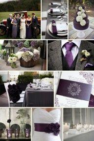 Aubergine / eggplant wedding colors!