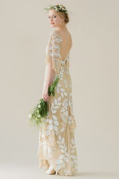 """I'm thrilled to have found Rue De Siene's """"Young Love"""" Bridal Collection. The collection is romantic and feminine, and embodies the carefree spirit of the modern bride: it has more to do with the restless spirit of love instead of when we fall in love. New Zealand based designer Michele Corty has definitely embodied that free-spirited nature with these flowing silhouettes and Bohemian style embroideries. """"Colette"""" is my favourite!"""