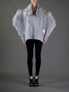 Grey cotton scuplted jacket from Balmung
