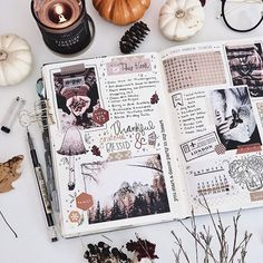 Fall has pretty much come to an end around here. The ground has a fresh blanket of snow. Is it crazy of me to be a bit excited about doing holiday themed spreads soon! I was even humming a Christmas carol yesterday ? Bullet Journal Notebook, Bullet Journal 2019, Bullet Journal Ideas Pages, Bullet Journal Spread, Bullet Journal Inspo, Bullet Journal Layout, My Journal, Bullet Journals, Scrapbook Journal