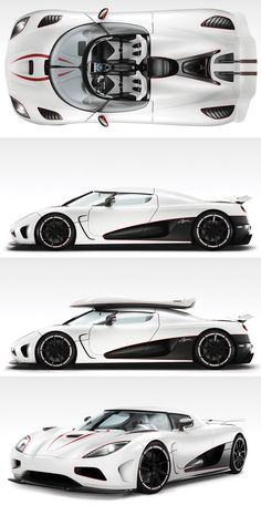 Koenigsegg Agera R; 260 mph, 0-60 in 2.9 secs. 5.0-liter V8 engine with twin turbo's producing 1099 hp
