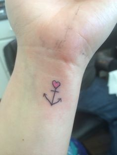 Small anchor wrist tattoo