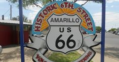 Amarillo Route 66 Historic District. Dining, antique shops and historic buildings on Route 66 in Amarillo. Route 66 photos.