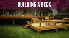 Get ready for your deck project with these helpful tips on how to plan the design. Design and Plan Your Deck Easily. How to build, plan and design your deck. Deck Cost, Low Deck, Easy Deck, Deck Building Plans, Deck Plans, Ground Level Deck, How To Level Ground, Floating Deck, Deck Construction
