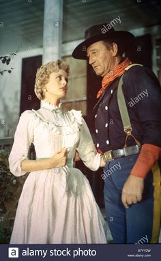 John Wayne Constance Towers Directed By John Ford Stock Photo, Royalty Free Image: 22126913 - Alamy