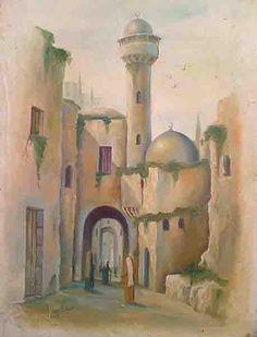 "by Palestinian artist ""Saad al-Helmy """