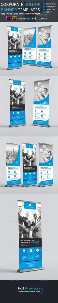 Corporate Roll-up Banners Template INDD, AI #design Download: http://graphicriver.net/item/corporate-rollup-banners/13578374?ref=ksioks