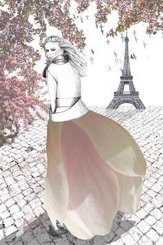 Vårbild från Paris av Flora Interiör