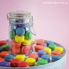 For the free recipe video on how to make these mini macarons, visit youtube.com/c/rosiesdessertspotaustralia