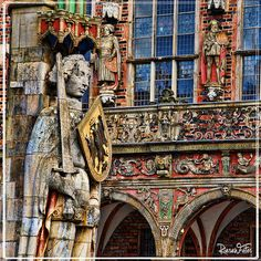 statue of roland on the market square of bremen. #germany