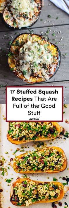 These recipes squash the idea that you can only stuff an acorn. #greatist https://greatist.com/eat/stuffed-squash-recipes