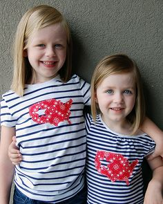 4th of July Appliqued Shirts 4 tutorial with silhouette pattern