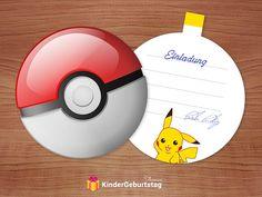 Pokemon party for kids birthday: printable invitation cards - Pokemon Ideen Pokemon Party, Pokemon Birthday, Diy Invitations, Invitation Cards, Printables, Kids, Anton, Pokemon Birthday Card, Pokemon Images