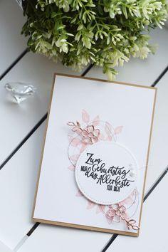 Grußkarte Zum Geburtstag Rosegold Akzente