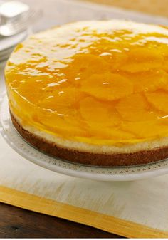 Citrus-Gelatin Layered Cheesecake – Two favorite desserts—orange JELL-O and classic cheesecake—are layered to make one show-stopping and unique cheesecake recipe.
