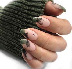Nail art Christmas - the festive spirit on the nails. Over 70 creative ideas and tutorials - My Nails Cute Nails, Pretty Nails, Make Up Yeux, Hair And Nails, My Nails, Nagel Bling, Nailart, Minimalist Nails, Nagel Gel