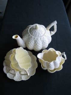 Belleek Cone Tea for Two Service 2BM in Mint Condition | eBay