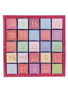 Barevný číselný adventní kalendář z čajů English Tea Shop #vánoce #hvězda #dekorace #cukroví #stromeček #dárky #tvoření #děti #rodina #advent # kalendář #3dmámablog.cz