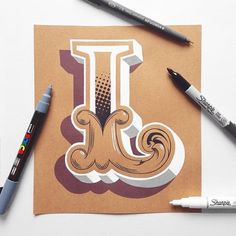 """A beautiful, hand drawn """"L"""" by the talented @jamesllewis. #StrengthInLetters #Goodtype"""