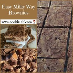 Easy Milky Way Brownies: ingredients, directions, and special baking tips from The Elf to make this easy brownies recipe that's also like a candy bar cookie recipe. Candy Bar Cookies, Cake Mix Cookies, Cookie Bars, Cookies Et Biscuits, Boxed Brownie Recipes, Cake Mix Cookie Recipes, Brownie Bar, Recipe Community, Best Appetizers