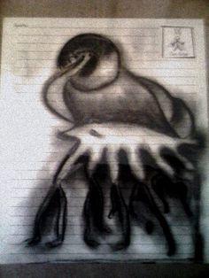 Título: Yo  Técnica: Dibujo al Carbón  Formato: 20 x 30  Disponible  Informes rosaeliasmass@yahoo.com.mx