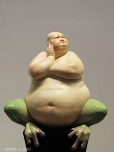 """Chinese artist Liu Xue creates grotesque and intriguing sculptures of human/animal hybrids. These sculptures embody the antithesis of what society deems """"glamourous"""" - Rebekah Roden"""