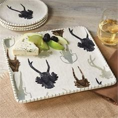 NEW ARRIVAL | Mud Pie | Lodge Antler Square Platter | Tabletop | Decor | Fall | Thanksgiving | $36.00