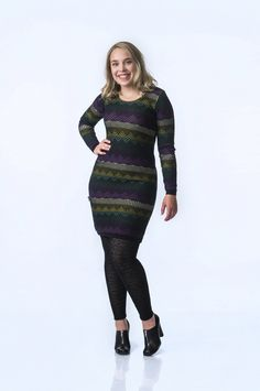 KAINO Knitted Northern Lights Dress Rain Poncho, Light Dress, Aw17, Knit Dress, Merino Wool, Knitwear, Northern Lights, Long Sleeve, Sleeves