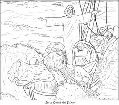 free coloring pages of jesus calming the storm | JESUS CLAMS THE STORM!!! on Pinterest | Storms, Boats and ...