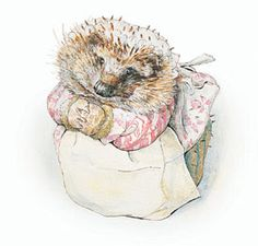 We need a Mrs. Tiggywinkle in the garden!