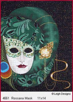 Carnevale  Leigh Designs Needlepoint    4661 Rossana Mak 11x14