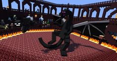 Wither vs. enderdragon: Most epic showdown I'll  ever see.