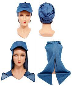 Wearing History - 1940s WWII Victory Hat Pattern, $12.00 (http://www.wearinghistorypatterns.com/1940s-wwii-victory-hat-pattern/)