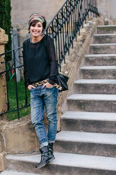 Jeans boyfriend femme – tenue jolie