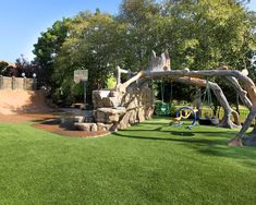 Wonderful Backyard Landscaping Ideas For Kids : Contemporary Backyard Landscaping Ideas Pretty Much Perfect Play Space For Kids Swings And S...