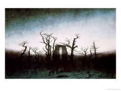 The Abbey In The Oakwood, 1810  Caspar David Friedrich