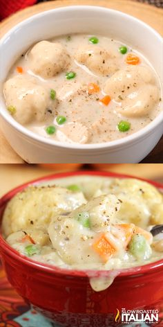 Chicken and Dumplings is a dish that goes from prep to plate in 30 minutes! A simple one-pot recipe that is packed with chicken, veggies and delicious dumplings, with no canned 'cream of whatever' soup needed. food recipes Chicken and Dumplings Cooker Recipes, Crockpot Recipes, Healthy Recipes, Fall Soup Recipes, Casserole Recipes, Free Recipes, Simple Soup Recipes, One Pot Recipes, Seafood Recipes