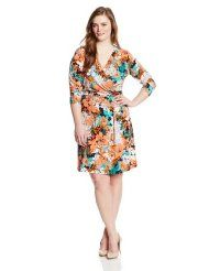 Anne Klein Women's Plus-Size Floral Print Wrap Dress  http://thestyletown.com/dresses/wear-to-work-dresses