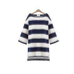 Women Dresses Spring Autumn loose causal dress striped print robe femme vestidos mujer de playa cortos jurken plus size L-5XL #Affiliate