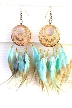 gorgeous earrings...make!  These made by http://www.etsy.com/shop/Feathertopia