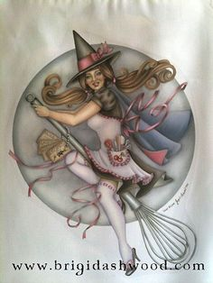 Kitchen Witch Apron Brigid Ashwood by brigidashwood on Etsy