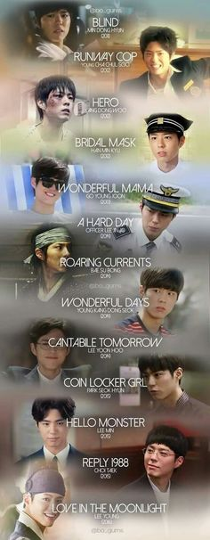 Park Bo Gum's roles over the years - Which goes to show that he didn't just rocket to fame, but had actually built up quite a filmography before reaching the level of popularity he has now.