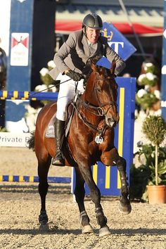 Vienna 2014 Gallery - LONGINES GLOBAL CHAMPIONS TOUR - Ludger Beerbaum and Chaman gallop for the finish in the Masters