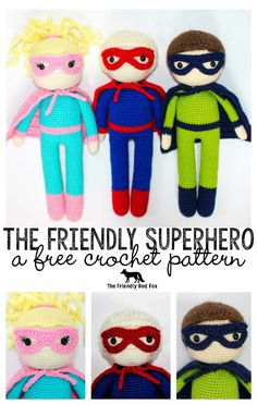 The free pattern for The Friendly Superhero has long been in the works. I am a mom to two boys and have been wanting to make something th...