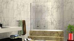 700 x 2000 Single Fixed Panel Walk In Frameless Shower Screen Walk In Shower Screens, Bath Screens, Shower Panels, Mobile Home Parks, Mobile Homes, Bathroom Renos, Bathrooms, Frameless Shower, Folding Doors